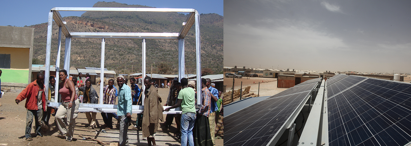 importing implementing and comissioning 250 solar powered retail structures