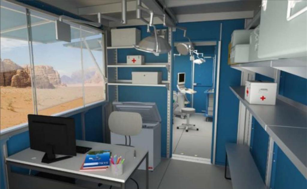 solar powered clinic mock up