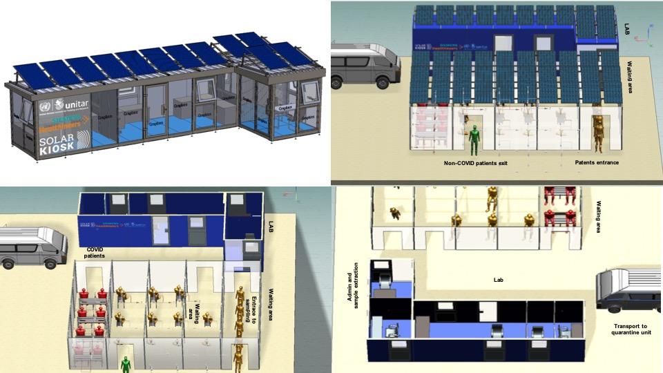 solar powered covid lab
